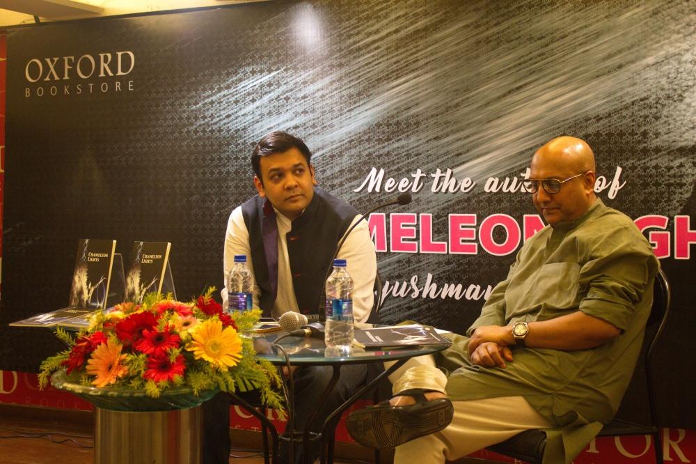 Ayushman Jamwal with moderator Debashish Mandal