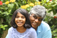 Author Harimohan Paruvu with his daughter Anjali