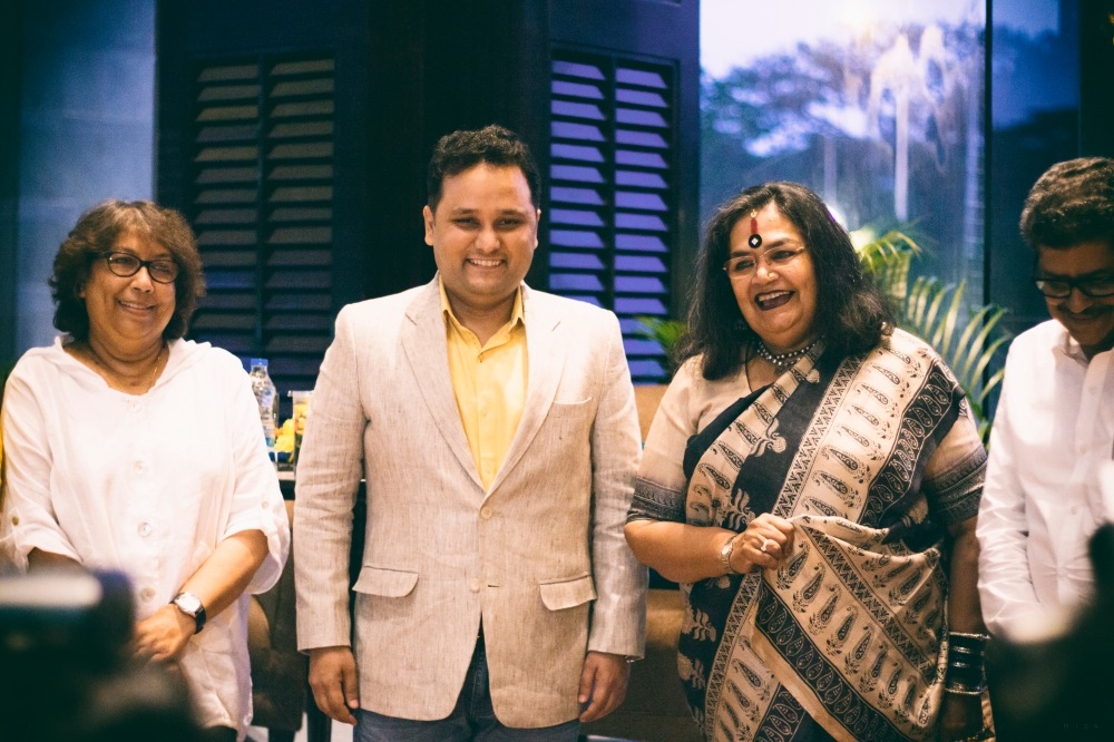 Sujata Sen, Amish Tripathi, Usha Uthup and Tridib Chatterjee at the launch of Immortal India: Young Country, Timeless Civilization
