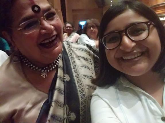 Usha Uthup and Rushati Mukherjee at Amish Tripathi's book launch Immortal India