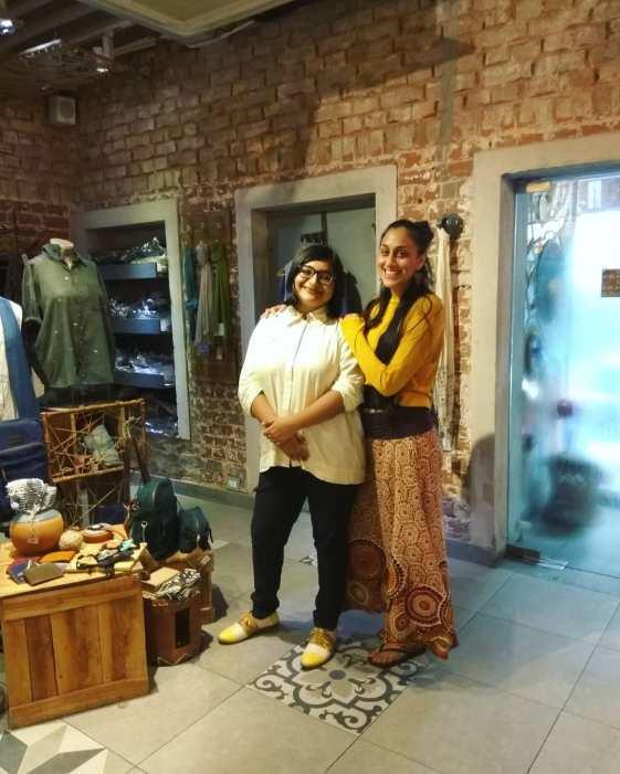 Rushati Mukherjee with Karuna Ezara Parikh at Sienna Cafe in Kolkata