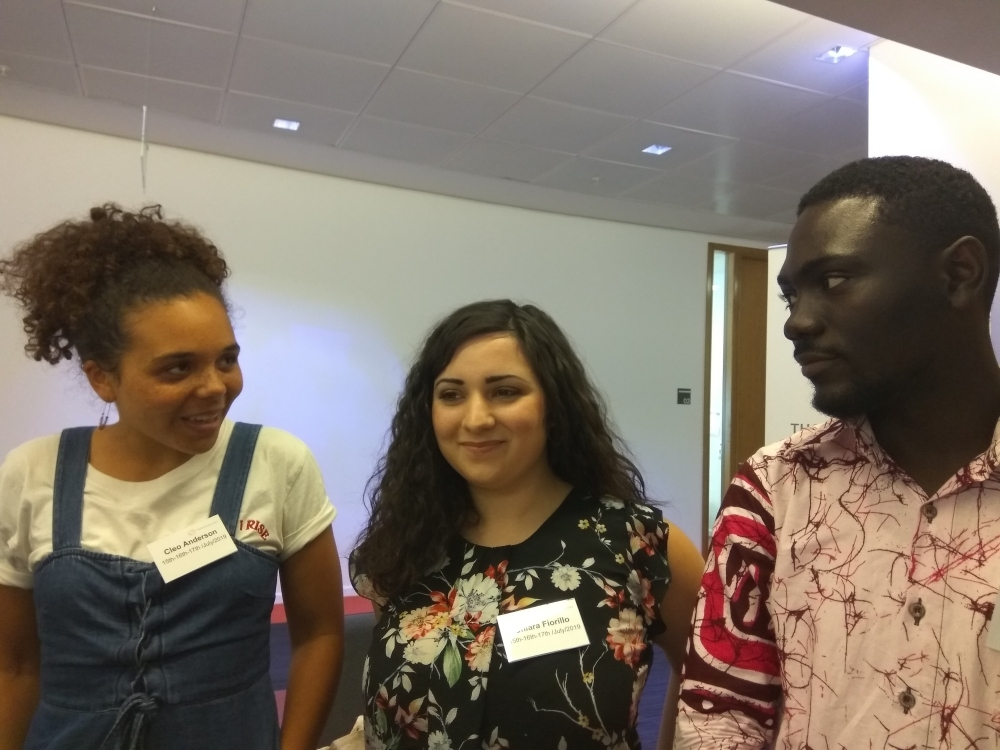 Cleo Anderson, Chiara Fiorillo and Kwasi Gyamfi Asiedu of Future News Worldwide